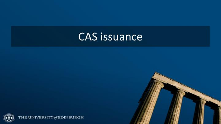 CAS issuance