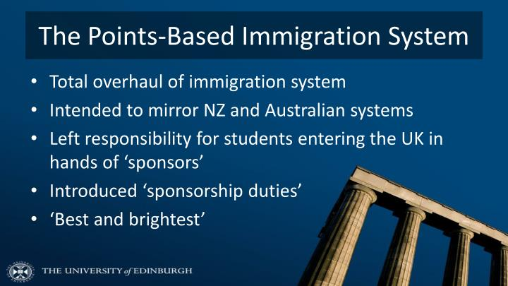 The Points-Based Immigration System