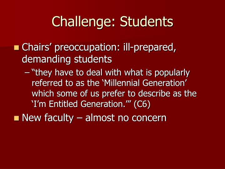 Challenge: Students