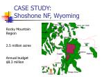 case study shoshone nf wyoming
