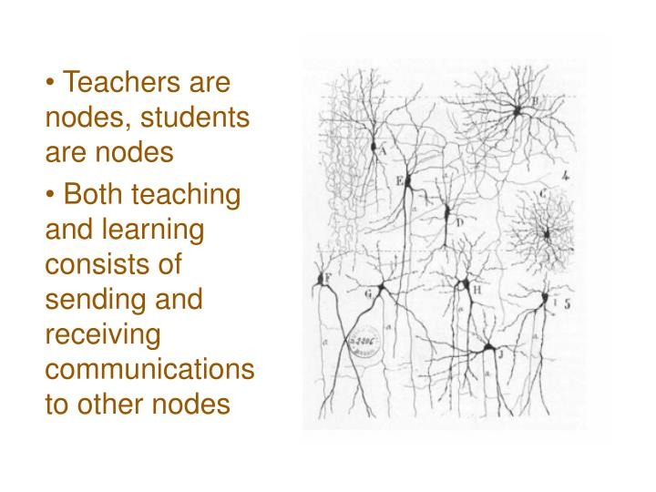 Teachers are nodes, students are nodes