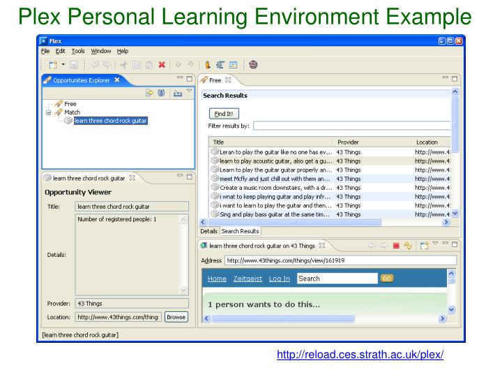 Plex Personal Learning Environment Example