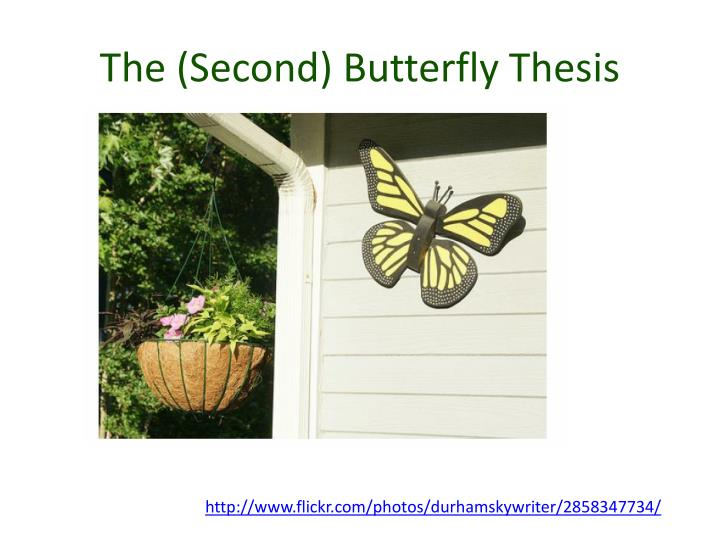 The (Second) Butterfly Thesis