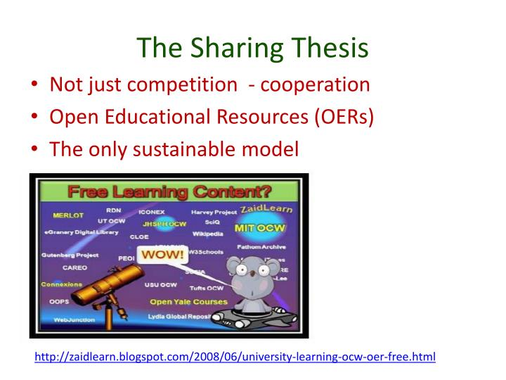 The Sharing Thesis
