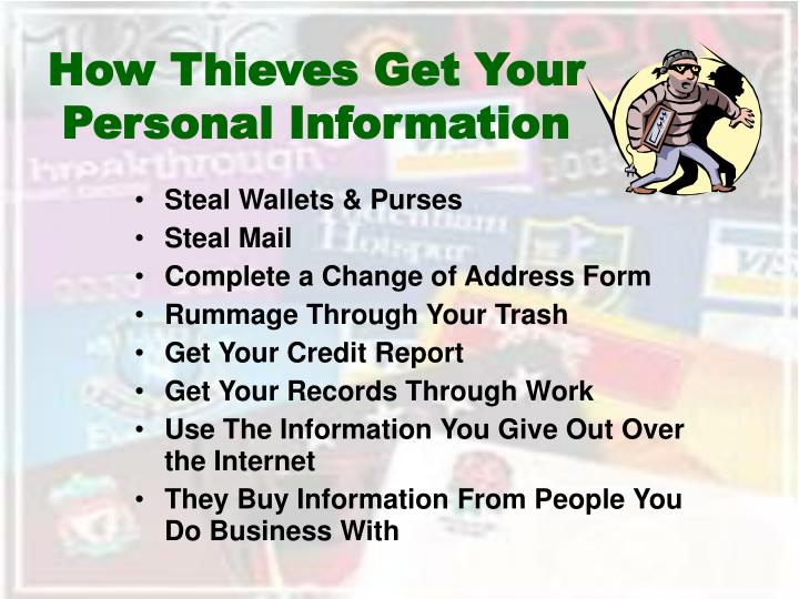 How thieves get your personal information