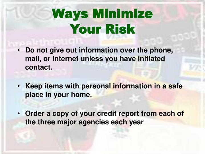 Ways Minimize