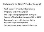 background on time period of beowulf
