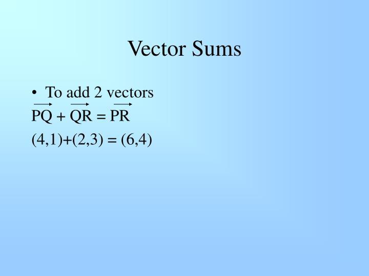 Vector Sums
