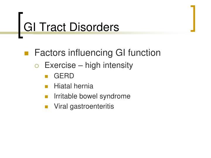 Gi tract disorders1