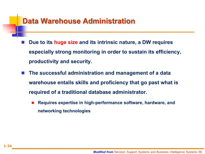 Data Warehouse Administration