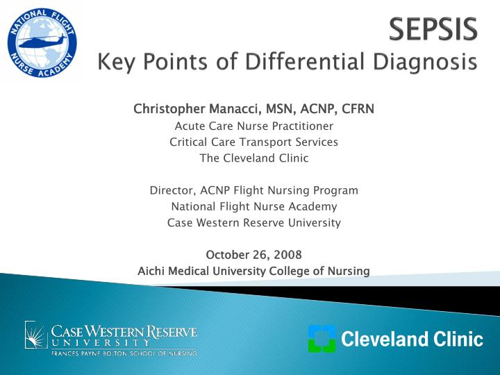 sepsis key points of differential diagnosis n.
