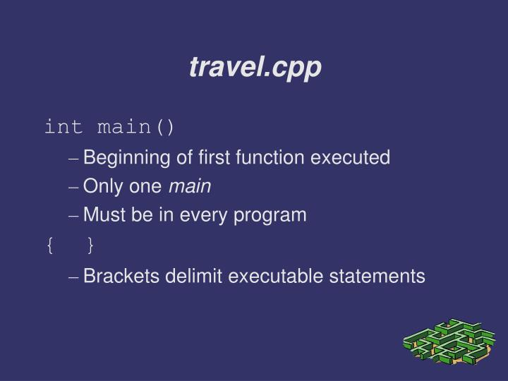 travel.cpp