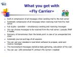 what you get with fly carrier
