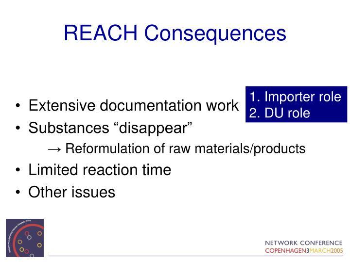 REACH Consequences