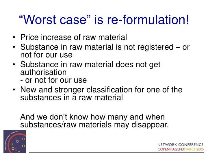 """Worst case"" is re-formulation!"