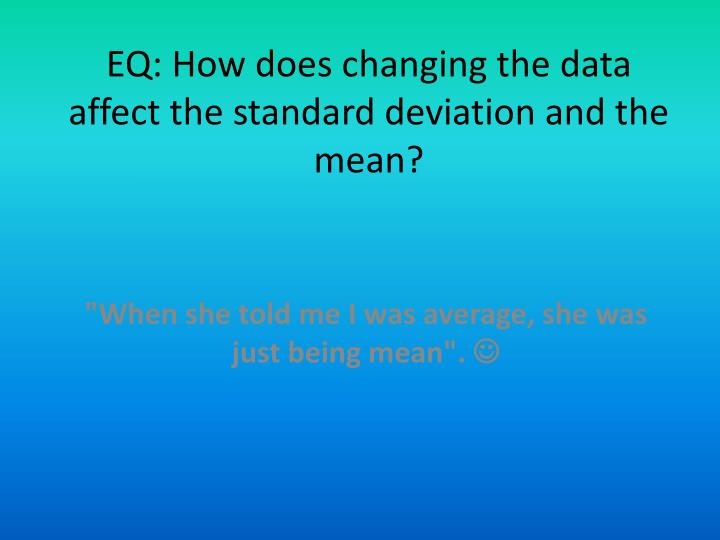 how to find standard deviation from mean and n