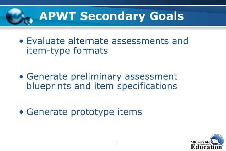 APWT Secondary Goals