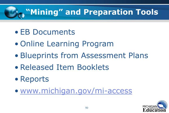"""Mining"" and Preparation Tools"