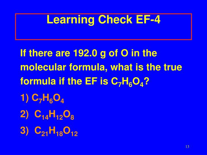 Learning Check EF-4