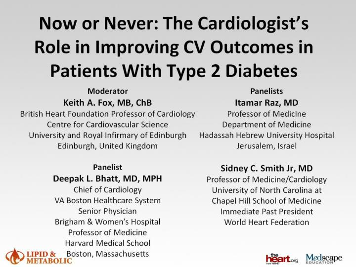 Now or never the cardiologist s role in improving cv outcomes in patients with type 2 diabetes