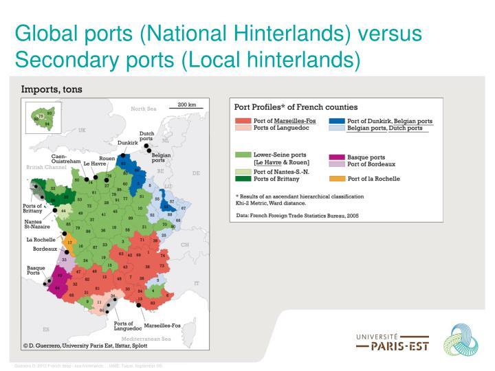 Global ports (National Hinterlands) versus