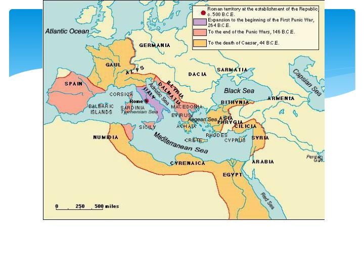 Why were the Romans able to conquer Italy