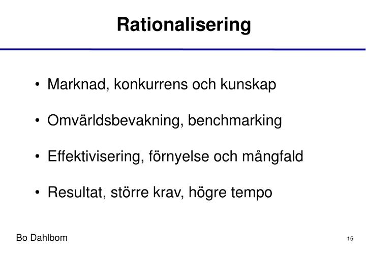 Rationalisering