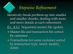 stepwise refinement
