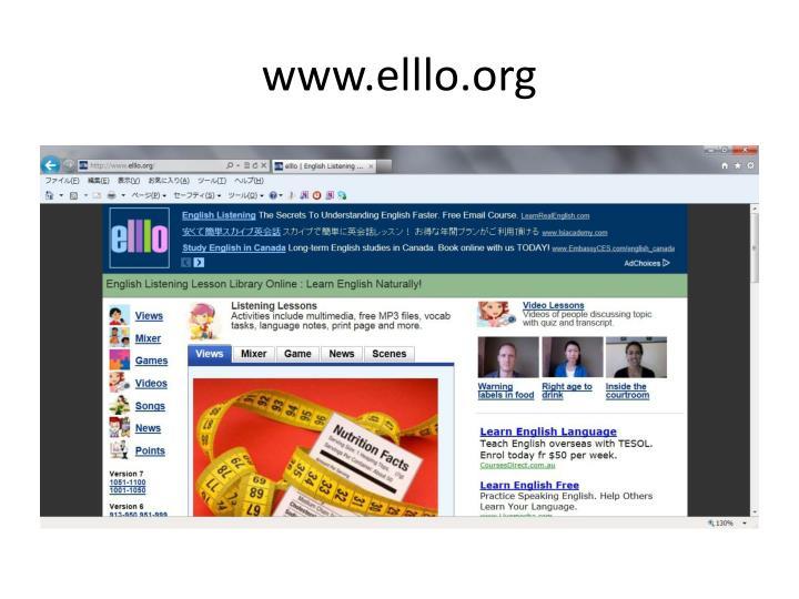 www.elllo.org