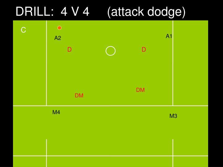DRILL:  4 V 4     (attack dodge)