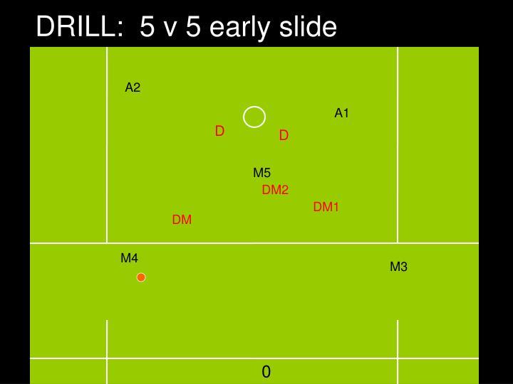 DRILL:  5 v 5 early slide