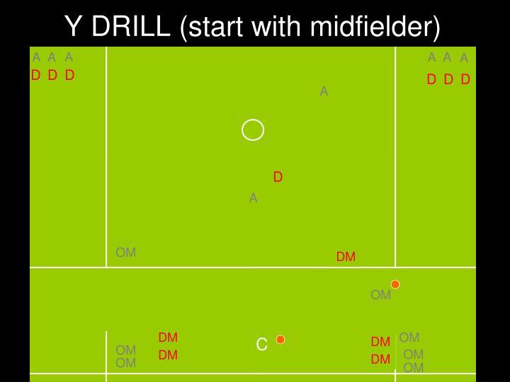 Y DRILL (start with midfielder)