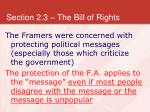 section 2 3 the bill of rights11