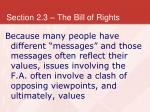 section 2 3 the bill of rights12