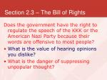 section 2 3 the bill of rights14