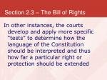 section 2 3 the bill of rights19