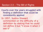 section 2 3 the bill of rights22