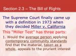 section 2 3 the bill of rights23