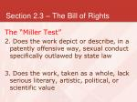 section 2 3 the bill of rights24