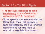 section 2 3 the bill of rights25