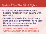 section 2 3 the bill of rights26