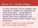section 2 3 the bill of rights27