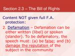 section 2 3 the bill of rights28