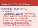 section 2 3 the bill of rights29