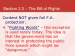 section 2 3 the bill of rights30