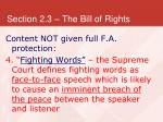 section 2 3 the bill of rights31