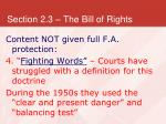 section 2 3 the bill of rights32