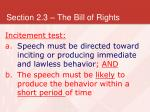 section 2 3 the bill of rights33