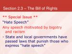 section 2 3 the bill of rights34