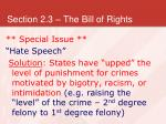 section 2 3 the bill of rights36